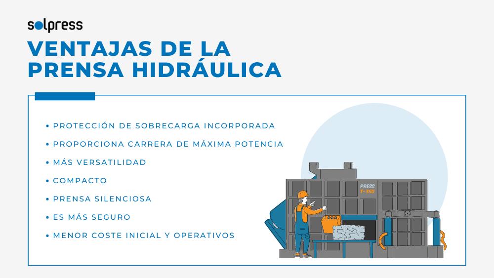 VENTAJAS DE LA PRENSA HIDRÁULICA solpress barcelona